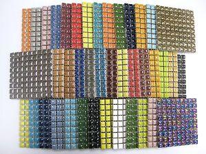 81 Mosaic Tiles 10 X10 X 4mm Tessera Ceramic Glazed