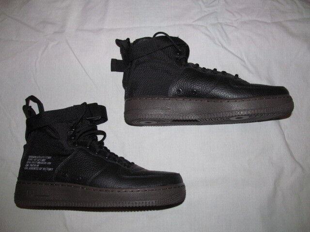 Nike SF SF SF AF1 MID 917753 002  man black dark hazel  shoes sz 9.5  Brand New  160 35e2e3