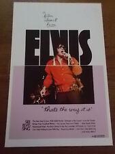 Elvis Presley Poster Print Flyer Music Memorabilia 11x7 inch THATS THE WAY IT IS
