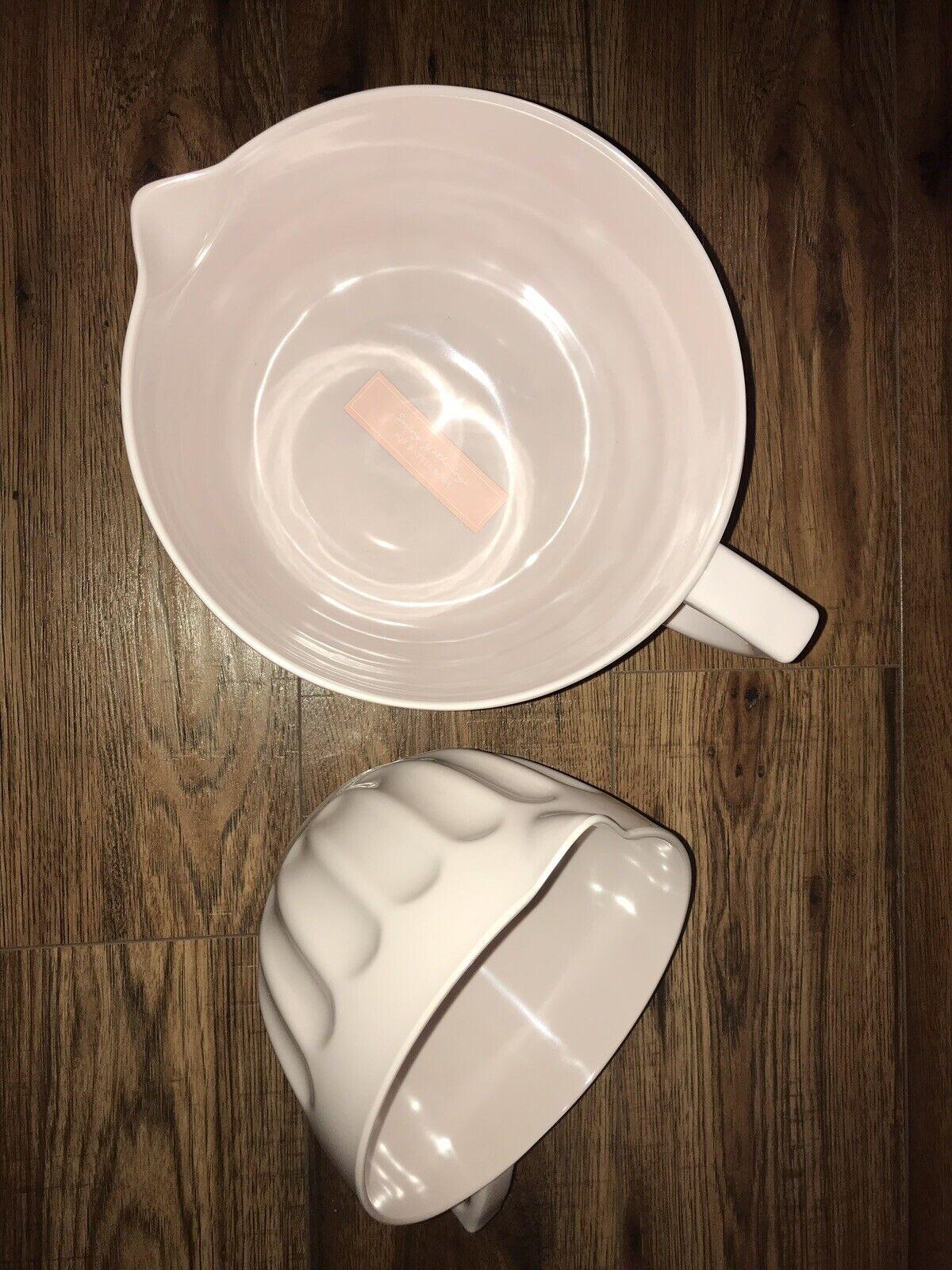 CYNTHIA ROWLEY NON SLIP Mélamine 2 Qt & 4 Qt Batter bols avec Poignée Rose Nouveau