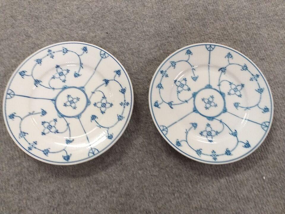 Porcelæn, Musselmalet desserttallerkener, N. H. Import