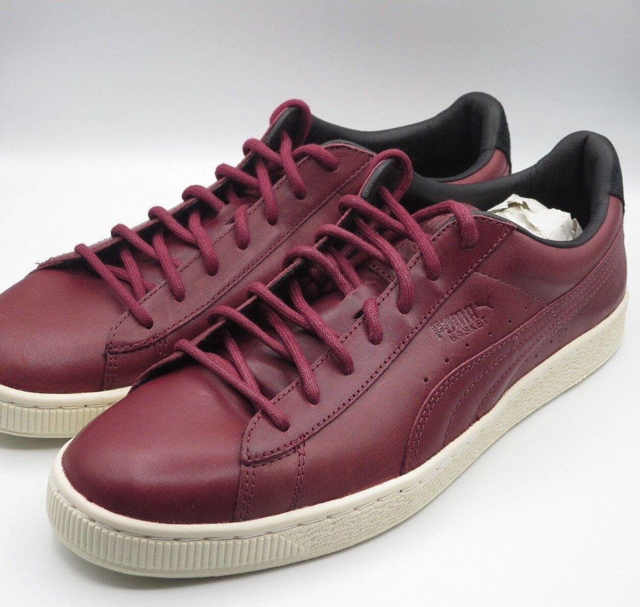 Puma Basket Retro Maroon Burgundy Red Uomo Fashion  Shoes Size 10.5