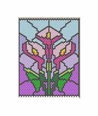 TROPICAL PARROT PONY BEAD BANNER PDF PATTERN ONLY