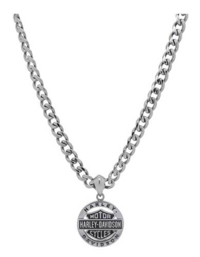 Harley-Davidson Men/'s Stainless Steel Bar /& Shield Circle Necklace HSN0041-22