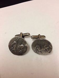 Jewelry & Watches Corinth Didrachm Coin Wc82a Pair Of Cufflinks Made From English Pewter Be Novel In Design