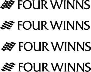 BOAT DECALS FOUR WINNS Set of 4 DECALS