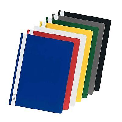 Schnellhefter A4 Plastik Kunststoff 5 10 20 100 Stück 13 Farben Sichthefter PP