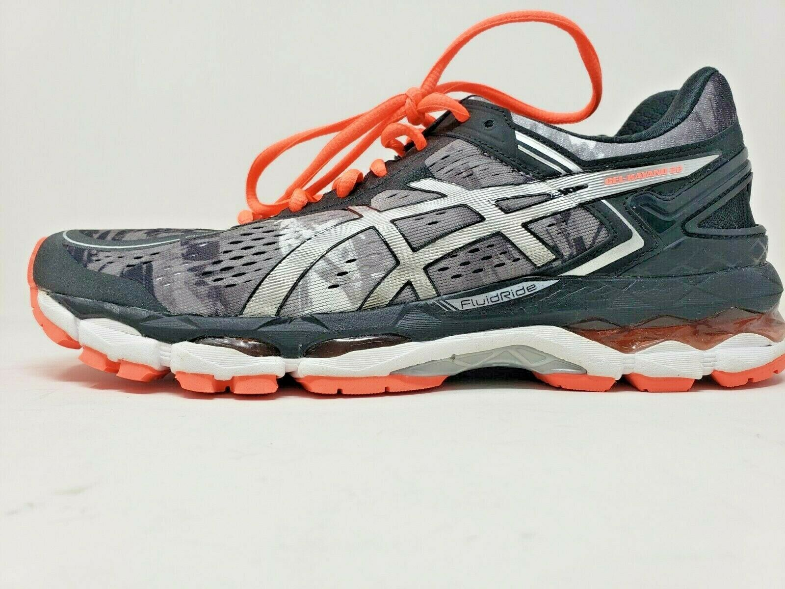 ASICS GEL-KAYANO 22 T597N-9006 WOMEN'S SIZE 11 BLACK FLASH  CORAL  WHITE NIB