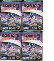 4 X Sonic The Hedgehog 2 Sega Game Gear Sealed Brand
