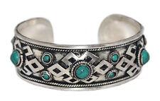 Turquoise Bracelet Boho cuff Bracelet Silver Bracelet Tribal Bracelet Tibet D