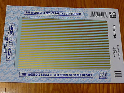 """Microscale Decal #PS-3-1/16 Parallel Stripes 1/16"""" Wide Gold"""
