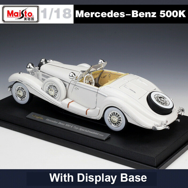 Mercedes-Benz 500K SpecialRoadster 1/18 Vintage Diecast Car Model Collection Toy