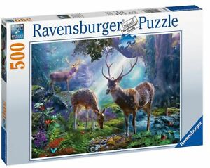 Ravensburger 500 piece jigsaw puzzle DEER IN THE WILD