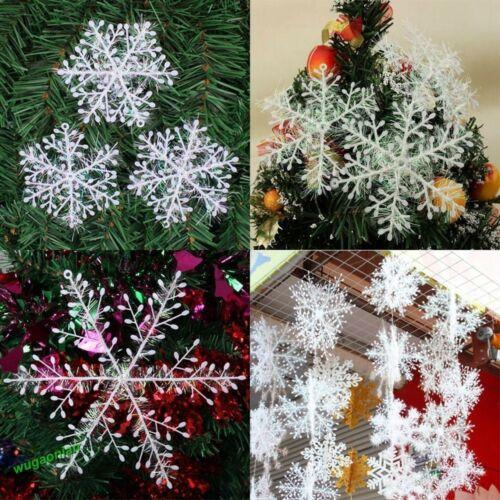 30Pcs Xmas Snowflake Ornaments Christmas Holiday Party Home Decor Festival 15