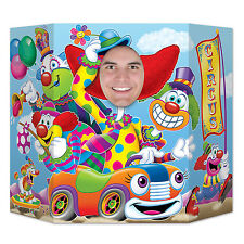 Clown Car Photo Prop - 94  x 64cm - Circus Clowns Style Party Decoration