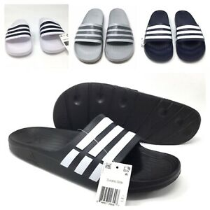 hot sale online 18276 03b6b Image is loading Adidas-Duramo-Slides-Mens-Size-8-9-10-