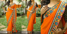 DESIGNER GRACEFUL TRENDY ELEGANT PARTY WEAR SAREE WITH BLOUSE PIECE