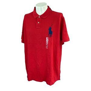 Polo Ralph Lauren Men's Custom Slim Fit Big Pony Short Sleeve Red NWT Shirt XXL