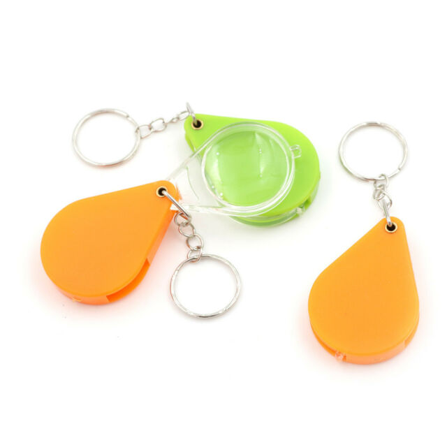 Portable Magnifying Glass Handheld Magnifier 10X Keychain Jewelry Reading ToolMD