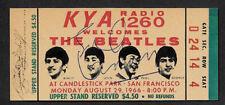 John Lennon Autograph & Beatles Concert Ticket Reprint On Genuine 1960s Card