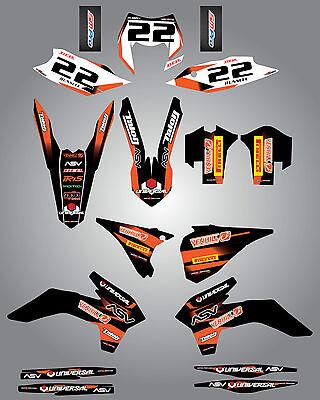 Custom Graphics for KTM EXC STORM style full sticker kit XCF  2014-2015