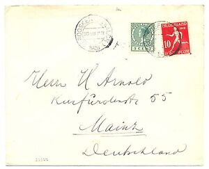 NETHERLANDS 1928 OLYMPICS COVER # 217 TO GERMANY VF