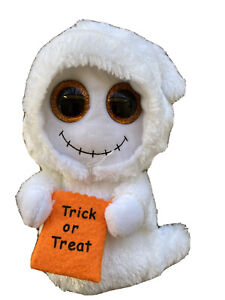 """Ty Beanie Boos White  Mist the Ghost Plush Doll 7""""  With Treat Bag"""