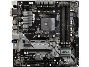 ASRock-B450M-PRO4-AM4-AMD-Promontory-B450-SATA-6Gb-s-USB-3-1-HDMI-Micro-ATX-AMD