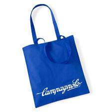 NUOVA Borsa shopping vintage Campagnolo per la vita Blu 100% COTONE Campag mod.