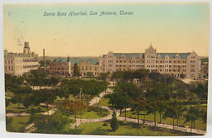 Santa-Pink-Hospital-San-Antonio-Texas-1908-Series-02-Postcard-Postcard-A2540