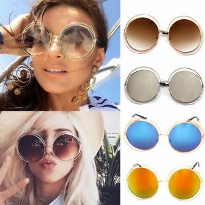0539013e512 Image is loading Oversized-Round-Sunglasses-Fashion-Women-Large-Size-Big-