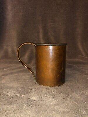 "Vintage Copper Stein 4-7/8"" Tall High Safety Drinkware, Steins Collectibles"