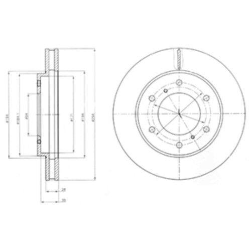 Revêtements Devant ø294 Mitsubishi L 200//Triton 3888643 Delphi Disques De Frein