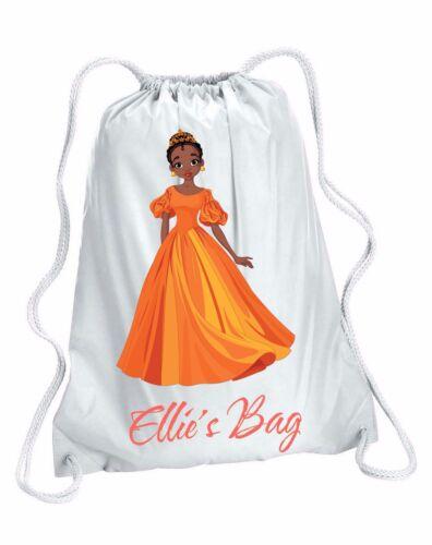Personalised Girl/'s Princes Gym Swim Drawstring Bag 4 designs available Pump