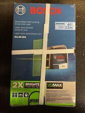Brand New Sealed Bosch 40 Ft Green Beam Self Levelcross Line Laser Withvisimax