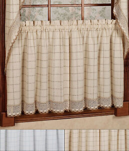 Delicieux Image Is Loading Adirondack Cotton Kitchen Window Curtains 24 034 X