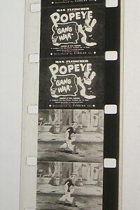POPEYE-GANG-WAR-1935-16MM-FILM-MOVIE-ROLLED-NO-REEL-D128