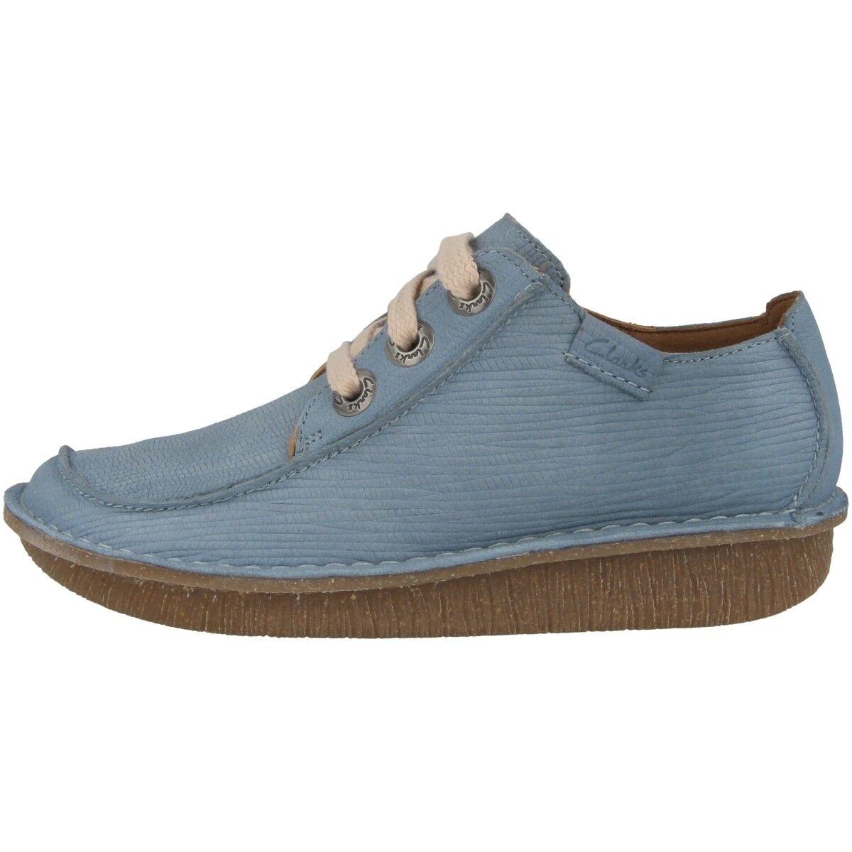 Clarks Funny Dream Chaussures Femmes Chaussures Basses Cuir Chaussure Lacée bleu gris 26132344
