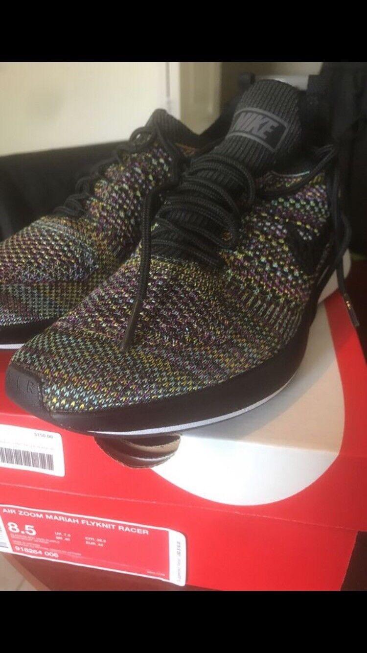 SALE GENUINE Nike Air Zoom Mariah Flyknit Multicolor Racer Men's Size 8.5 Multicolor Flyknit Black 718198