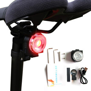 XLite100 Waterproof Bicycle Smart Brake Light LED USB Tail Light Bike Rear J4I5