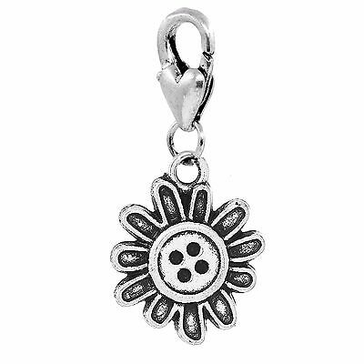 Sunflower Charm With Lobster Claw Clasp Charms for Bracelets and Necklaces