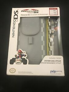 Nintendo DS 3DS Mario Kart Character Kit System Case Stylus CIB Factory Sealed