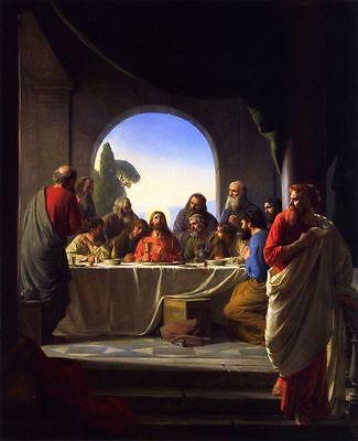 Jesus Christ The Last Supper Painting 8x10 Christian Fine Art Print Canvas