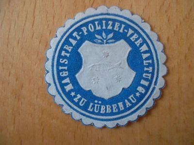 Ehrlichkeit Magistrat Und Polizeiverwaltung Lübbenau 15105 Siegelmarke