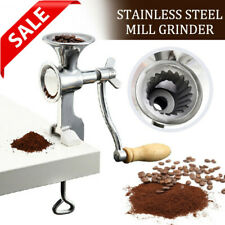 Stainless Steel Mill Grinder Nuts Grain Hand Crank Manual Wheat Coffee Soybeans