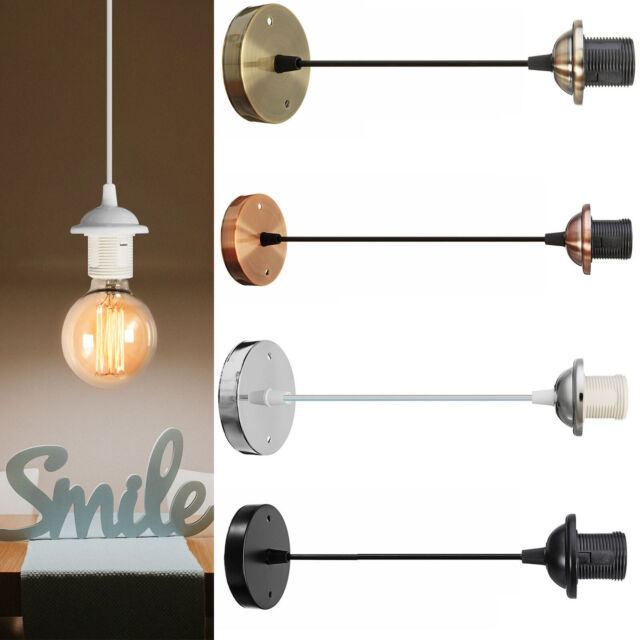 Ceiling Rose Wire Cable Pendant Lamp, How To Fit A Ceiling Light Fitting