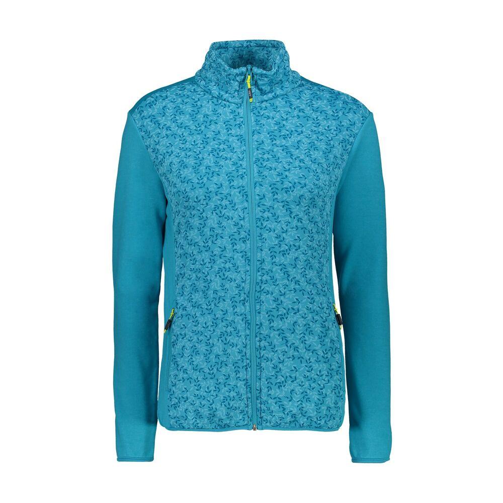 Cmp Polaire Veste Woman Jacket Bleu Respirant Élastique Saumon Chiné