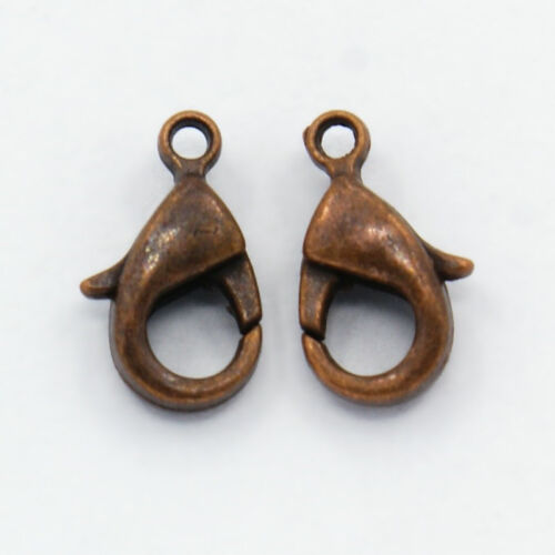 200 Pcs Nickel Free Red Copper Brass Lobster Claw Clasps Craft 10x5x3mm hole 1mm