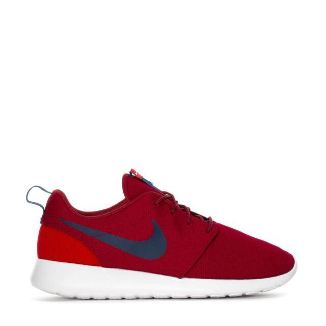 b7bde5035381 Nike Roshe One Mens 511881-609 Red Crush Midnight Navy Running Shoes Size  10.5