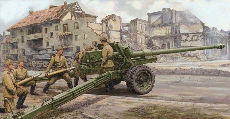 02331 Trumpeter 1 35 Model Russian 100mm Anti Tank Gun M1944(BS-3) Static